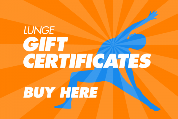 Lunge Gift Certificates - Buy Here